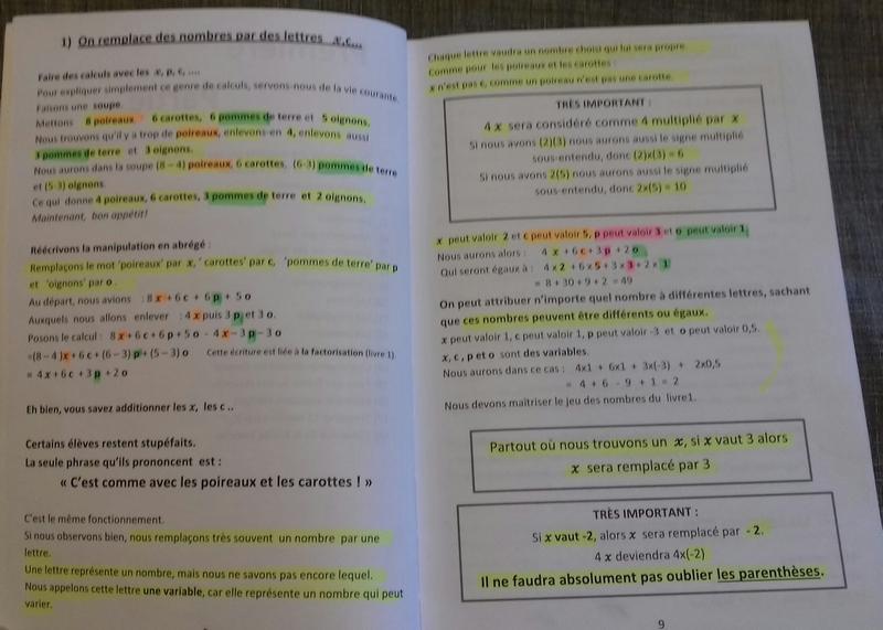 Les lettres au milieu des calculs: introduction par la soupe !