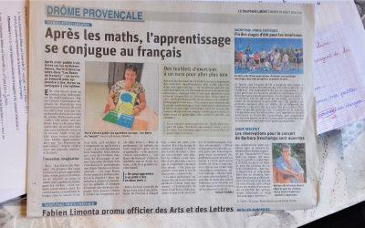 Apres les maths, l'apprentissage se conjuge au français.