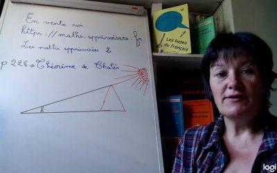 Le théorème de Thalès.